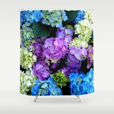 Colorful Flowering Bush Shower Curtain