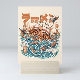 Dark Great Ramen off Kanagawa Mini Art Print
