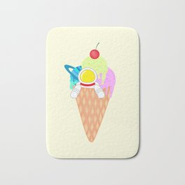 Space Odyssey Ice Cream | Astronaut Ice Cream | Space Ice Cream | Galaxy Ice Cream | pulps of wood Bath Mat