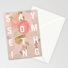Say Something - Floral Stationery Cards