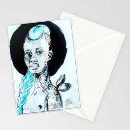 Femme à la crête bleue Stationery Cards