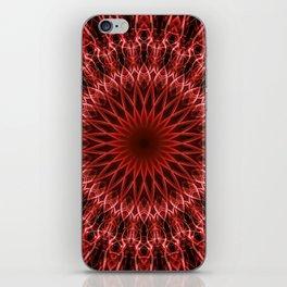 Detailed mandala in dark and light red tones iPhone Skin