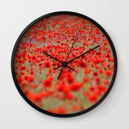 Field of Poppies | Mohnblumenfeld Wall Clock