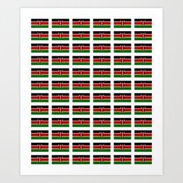 Flag of Kenya -kenyan,kenia,rift valley,serengeti,kilimanjaro,nairobi,mombasa Art Print