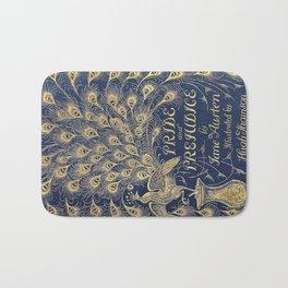 Pride and Prejudice by Jane Austen Vintage Peacock Book Cover Bath Mat