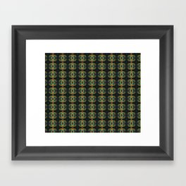 Peacock Bead Abstract Framed Art Print