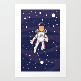 Major Tom in Space Art Print