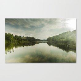 Cloudy River Canvas Print
