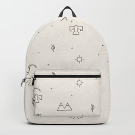 Death Valley in Ivory and Clay Backpack