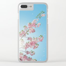 Cherry Blossoms Against the Blue Sky Clear iPhone Case