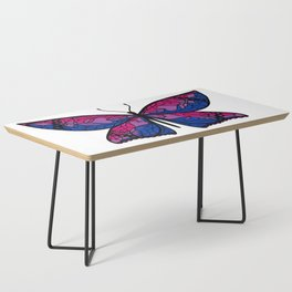 Fly With Pride: Bisexual Flag Butterfly Coffee Table