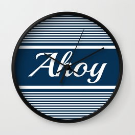 Ahoy Wall Clock