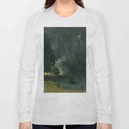 James Abbott McNeill Whistler - Nocturne in Black and Gold Long Sleeve T-shirt