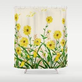 Yellow Wildflowers Shower Curtain