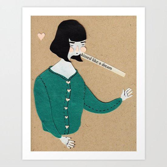 Kissed like a dream Art Print