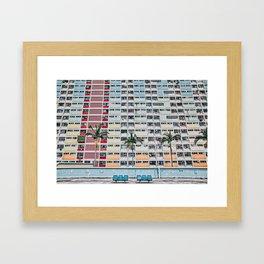 Rainbows at Choi Hung Framed Art Print