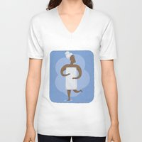 shower V-neck T-shirts featuring Shower by Sally Townsend
