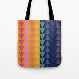 Day and Night Rainbow Triangles Tote Bag