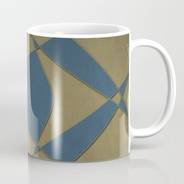 Wings and Sails - Blue and Beige Coffee Mug