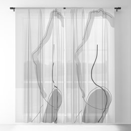 Body Exposure Sheer Curtain