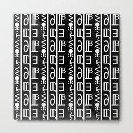 Yoj (black / White) Metal Print