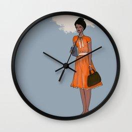 Girl in Service - Chocolate Wall Clock