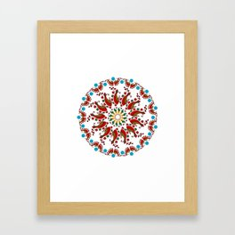 Hand drawn Mandala design Framed Art Print