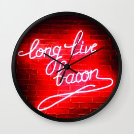 Long Live Bacon Wall Clock