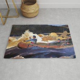 Winslow Homer1 - Shooting The Rapids, Saguenay River - Digital Remastered Edition Rug