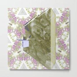 Abstract Kimono with Lava Pattern Metal Print