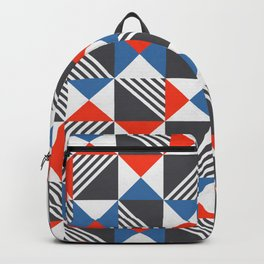 Geometric Triangle Lines Pattern Backpack