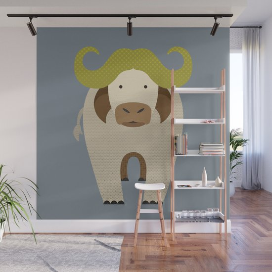 Whimsy Cape Buffalo by theprintedsparrow