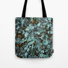 Patina Leaves Tote Bag
