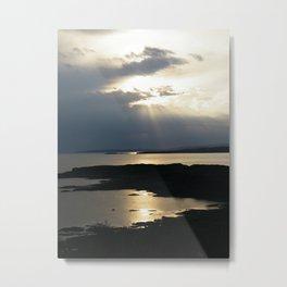 Sun set on Isle of Skye Metal Print