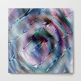 Moire Effect Metal Print