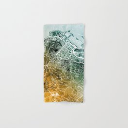Cape Town South Africa City Street Map Hand & Bath Towel