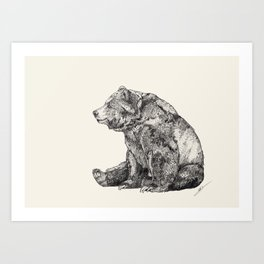 Bear // Graphite Art Print