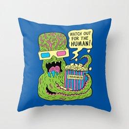 Alien Monster Movie Throw Pillow