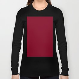 deep dark red or burgundy Long Sleeve T-shirt
