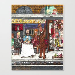 Fine Dining on the Subway Canvas Print