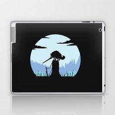 Grey Wolf Sif (Dark Souls) - in black Laptop & iPad Skin