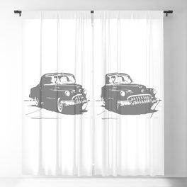 Vintage Old School Retro Car Blackout Curtain