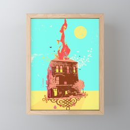 FIRE HOUSE Framed Mini Art Print