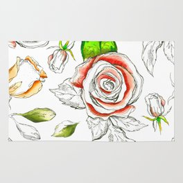 red roses c Rug