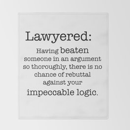 Lawyered Throw Blanket