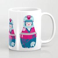 geisha Mugs featuring Geisha by Piktorama