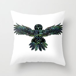 Morepork Throw Pillow