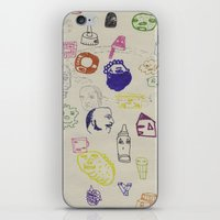 talking heads iPhone & iPod Skins featuring Heads by Craig Atkinson