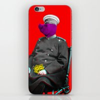 general iPhone & iPod Skins featuring General Schweinebacke by Marko Köppe