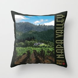 Napa Valley - Far Niente Winery, Oakville District Throw Pillow